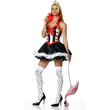 red queen of hearts adult costume x large