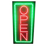 19inch Vertical Animated LED Neon Open Sign with 2 Light Modes W. Motion On/off Switch for Coffee Bar Tattoo Salon Cafe Store Beauty Spa ATM Business