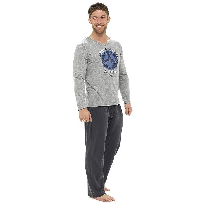 Krishwear - Pijama - para Hombre Gris Gris Large