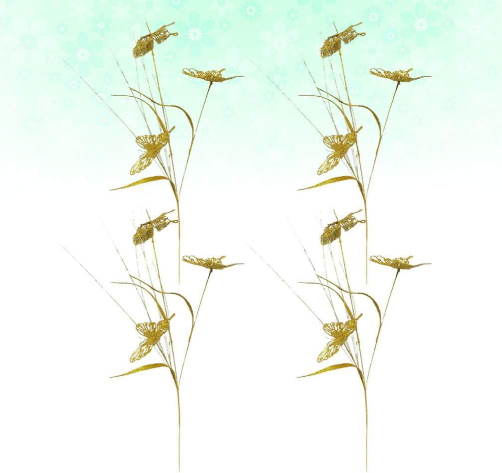 TOYANDONA 4 Piezas Adornos de Mariposa Estacas de Mariposas Impermeables Adornos de Jard/ín Suministros de Fiesta de Mariposas Estacas de Jard/ín para Bodas en Casa