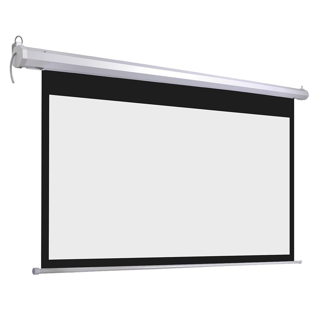Yescom 100'' 16:9 Electric Motorized Projector Screen Auto with Remote Control Home Classroom Meeting Room Bar