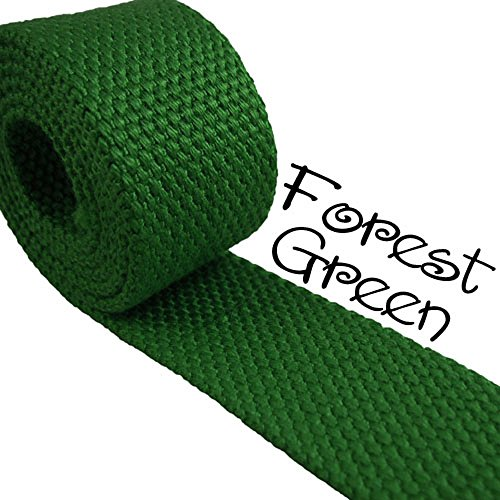 - Forest Green - Heavy Canvas Webbing Roll 1.25
