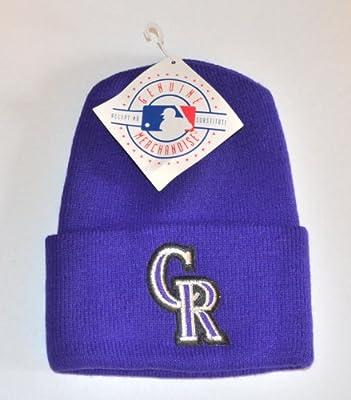 Colorado Rockies Purple Beanie Hat - MLB Cuffed Knit Toque Cap
