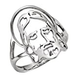 Kyпить Yellow-gold Face Of Jesus Chastity Ring на Amazon.com