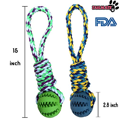 TAILMATE-Dog-Chew-Rope-Toys-with-Natural-Rubber-Ball-for-Tug-of-War-and-Aggressive-Chewers-Green1