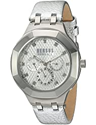 Versus by Versace Womens LAGUNA CITY Quartz Stainless Steel and Leather Casual Watch, Color:Silver-Toned (Model...