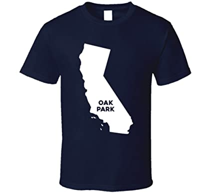 Oak Park California Map.Amazon Com Oak Park California City Map Usa Pride T Shirt Clothing