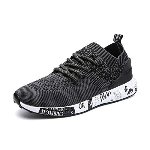 IIIIS Asfalto Malla T Libre de Deportivas Running Deportes a Zapatos 239 y negro Correr Transpirable Monta Hombre Zapatillas Senderismo y Aire Casuales para xrUwxAO