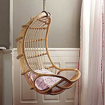 Aashi Enterprise Cane Furniture Rattan Modern Swing Chair,Standard,Brown