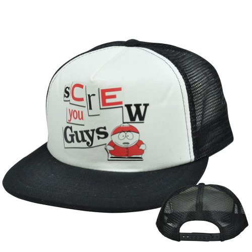 comedy-central-south-park-eric-cartman-screw-you-guys-flat-trucker-snapback-hat