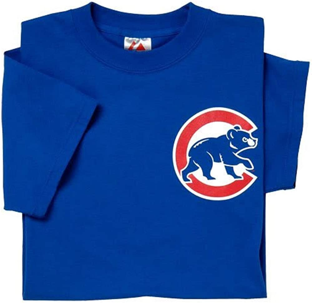 Majestic Athletic Adult Medium Licensed Replica Jersey with Chicago Cubs Royal Tee
