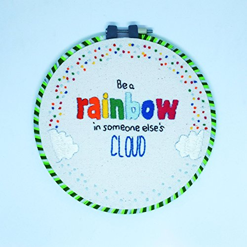 Embroidery Hoop Art Kit Handmade Cross Stitch Art Craft Sewing (Rainbow Pattern) from Matamade