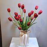 European Style artificial silk flower bouquet mixed kit red tulips