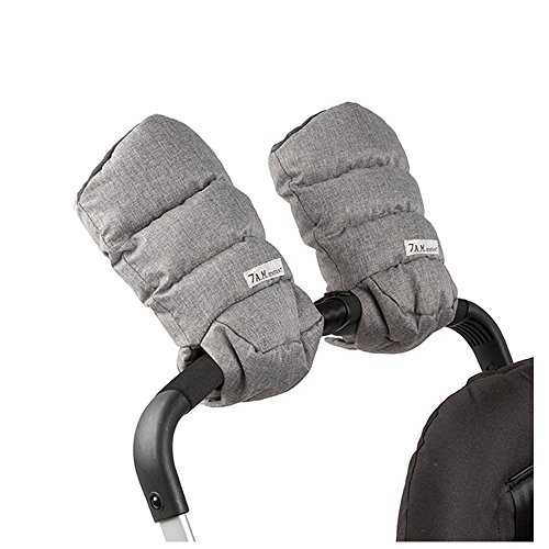 7 A.M. Enfant Warmmuffs Stroller Gloves with Universal Fit (Heather Grey) ()