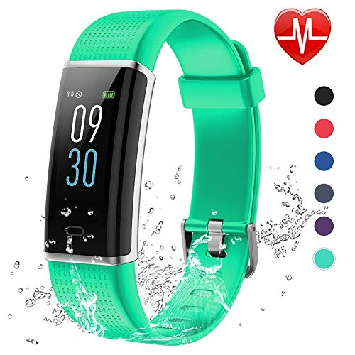 Screen Monochrome - Lintelek Fitness Tracker, Color Screen Activity Tracker with Heart Rate Monitor, Sleep Monitor, 14 Sports Modes, IP68 Waterproof Pedometer, Step Counter for Kids, Women, Men