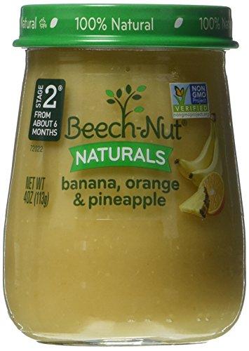 Beech-Nut Stage 2 Baby Food, Banana/Orange/Pineapple, 4 Ounce (Pack of 10) (Banana Orange Pineapple)
