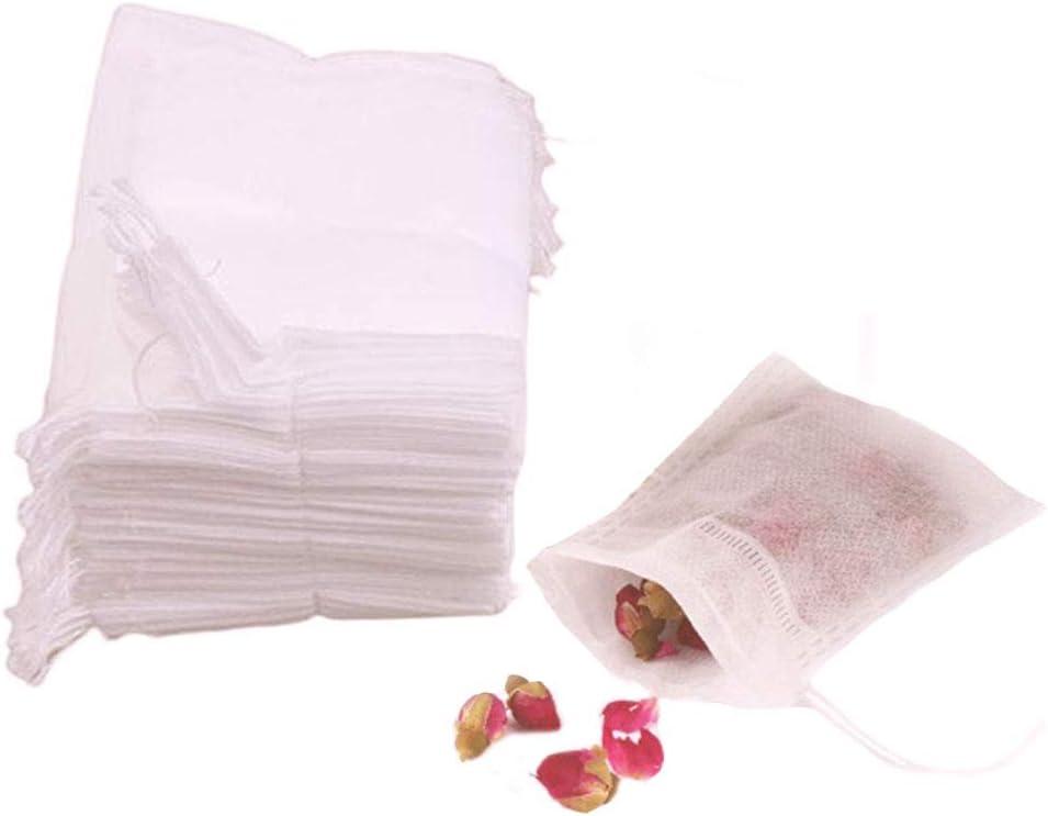 AKOAK Disposable Drawstring Tea infusers Tea Filter Bags for Loose Tea Herbs Spice Bouquet Garni Potpourri Bags, 2.3