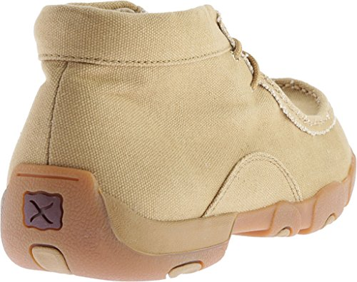 X MDM0051 Men's Canvas Khaki Moc Driving Boots Twisted UTcpOPZc
