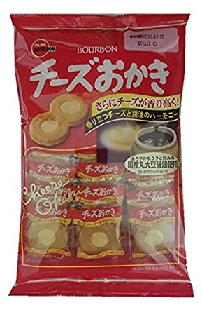 Bourbon japonés arroz Cracker con queso, 22pcs/bag x 6 ...