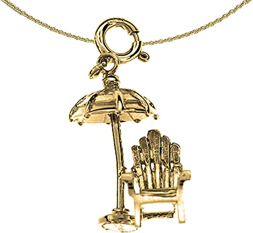 14K Yellow Gold-plated 925 Silver Umbrella Pendant with 30 Necklace Jewels Obsession Silver Umbrella Necklace