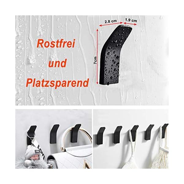 51lSkIK46HL Handtuchhalter ohne bohren, 5 Stück Handtuchhaken Kleiderhaken Wand, Edelstahl Wandhaken Garderobenhaken, Rostfrei Haken…