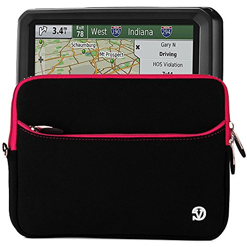 "Black Durable Protective GPS Carrying Sleeve Protector Bag w/wrist strap for Garmin Dezl 770LMTHD 7"" Navigator"