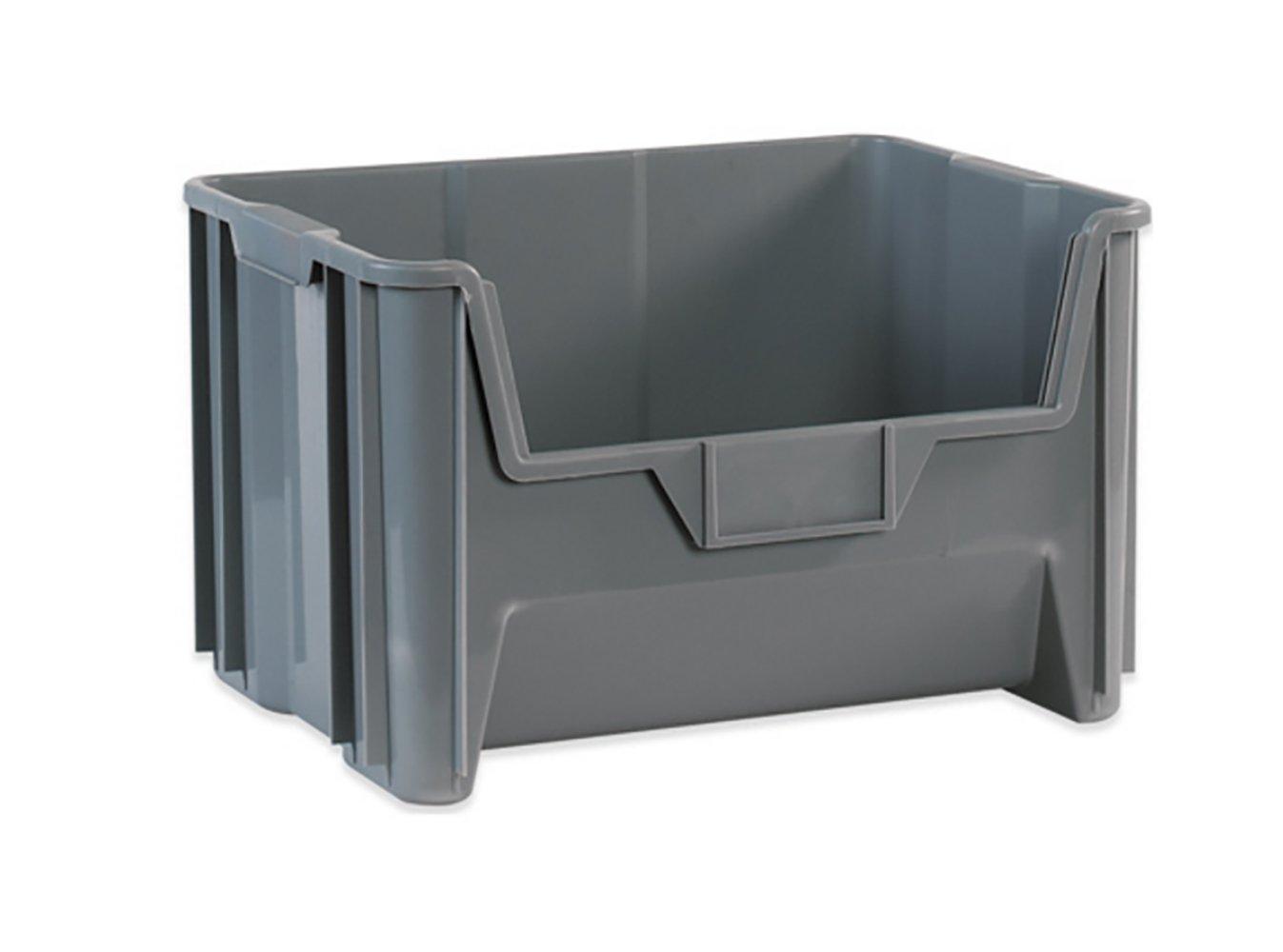 RetailSource BING112-1 19 7/8 x 15 1/4 x 12 7/16 Gray Giant Stackable Bin RetailSource Ltd