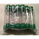 Clear plastic storage tubes with caps, One Inch diameter, One dozen