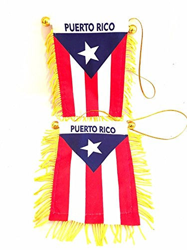(2x pc, PUERTO RICO, Auto,Car,Home Flag,Puerto rican,Flag, 2pc Value pack)