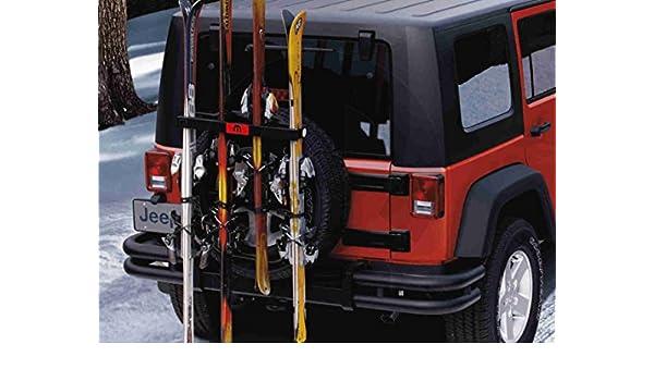 Com Mopar Tscxt987 Oem Jeep Wrangler Spare Tire Mount Ski And Snowboard Carrier Tj Lj Jk Automotive