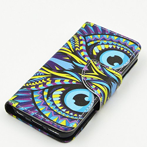 iPhone 5C Case, Yaobai flip en cuir PU Wallet Card *** Magnetic PU cuir Wallet *** stand Case titulaire de la carte Shell cute adorable [animal] flip PU Housse en cuir Housse Wallet Card avec plusieur