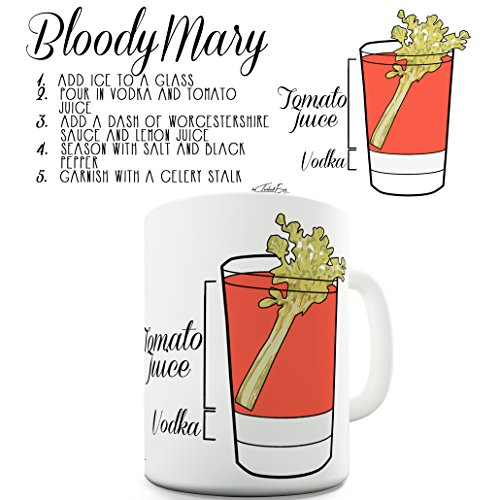 Funny Novelty Mug Cup Bloody Mary Recipe By Twisted Envy 15 OZ ()