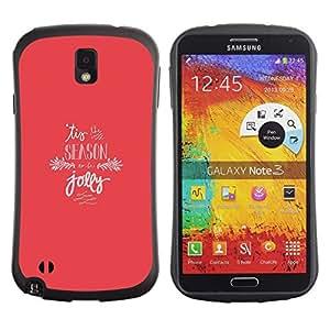 """Hypernova Slim Fit Dual Barniz Protector Caso Case Funda Para Samsung Note 3 [Temporada de vacaciones de Navidad Jolly Rosa Invierno""""]"""