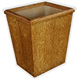 Wooden Wastebasket In Craftsman Style White Oak Veneer And Solids Small Size 13Qt. (Without Liner)