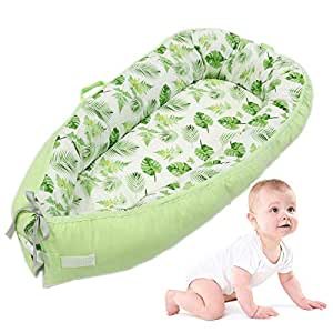 Baby Lounger, lesgos Portable Super Soft and Breathable Newborn Infant Bassinet,Water Resistant Removable Cover for Newborn Lounger