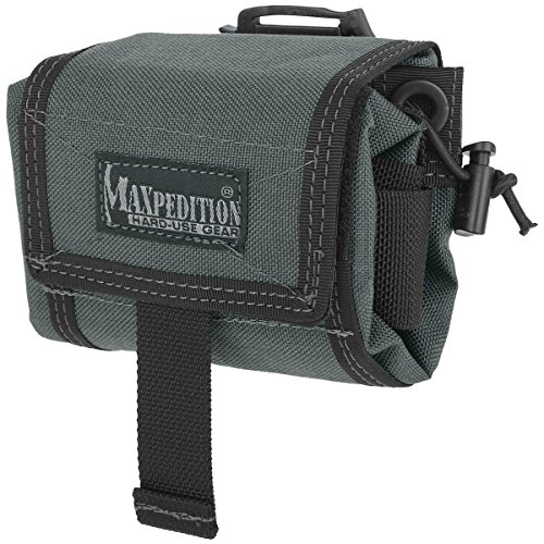 Maxpedition Mega Rollypoly Folding Dump Pouch Wolf Gray - Ballistic Drop Leg