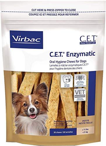 - Virbac C.E.T. Enzymatic Oral Hygiene Chews, Small Dog, 30 Count