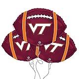 Virginia Tech Logo College Football Mylar Balloon 3 Pack