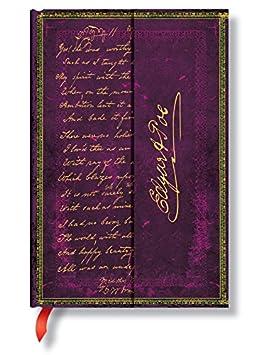 Faszinierende Handschriften Poe Tamerlane - Faux Leder - Notizbuch Mini Liniert - Paperblanks