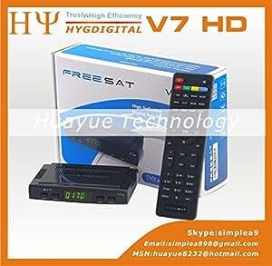 ARBUYSHOP original V7 HD DVB-S2 receptor de satélite 1080p Full HD V7 HD DVB-S2 superior determinada PowerVu ayuda de la caja CCcam youtube youporn