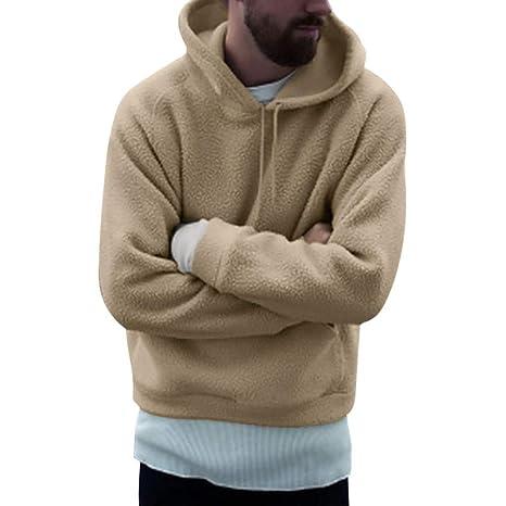 Moda Lavoro a Maglia con Cappuccio da Uomo Felpe con cappuccio caldo spessore Felpe Casual Cappotti Zipper