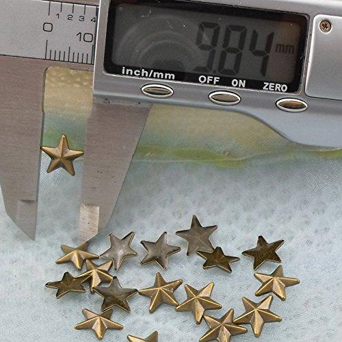 Beadsland Hotfix Iron On, 10mm Flat Back Star Studs - 1/4