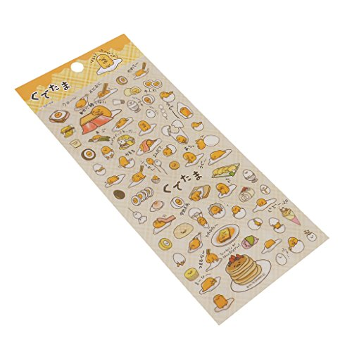 Jili Online Kawaii Cartoon Transparent Stickers for Scrapbooking Diary Planner Album Mobile Decor - Dark, 21x9.5 cm