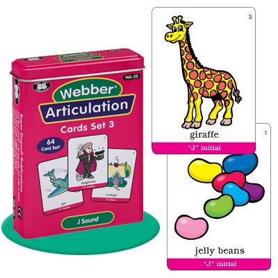 Super Duper Publications Set of 7 Webber Articulation Card Decks with Animal Artic Pairs (Combo Set 3) Educational Learning Resource for Children by Super Duper Publications (Image #6)