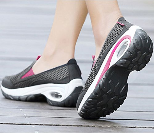 Cushion Athletic Quick Drying Women's Mesh Walking Shoes Solshine Air Breathable Outdoor Dark Grey2 8HWqqfg