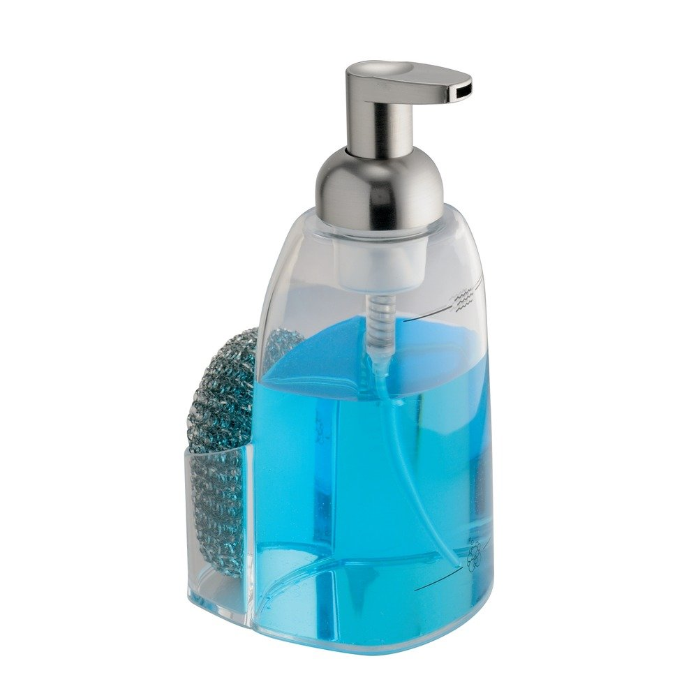 Amazon.com: InterDesign Sinkworks Foaming Soap Dispenser and Sponge ...