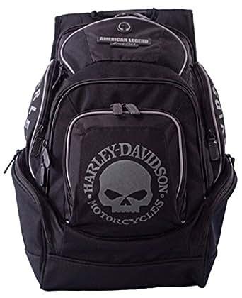 harley davidson backpack black willie g skull. Black Bedroom Furniture Sets. Home Design Ideas