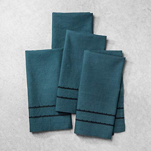- Hearth & Hand with Magnolia Linen Napkin Set, Blue (4 pk)