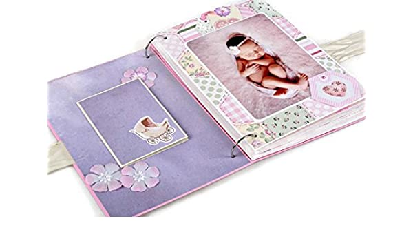 A4 SIZE PHOTO ALBUM//SCRAPBOOK//MEMORY BOOK. FIRST YEAR PERSONALISED NEW BABY..