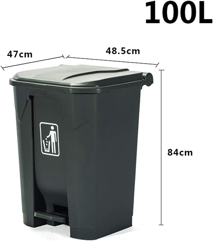rue Poubelle ext/érieure 30//50//80 // 100L poubelle de type p/édale de cuisine poubelle grise en plastique durable de bureau /à domicile de grande capacit/é Capacity : 30l